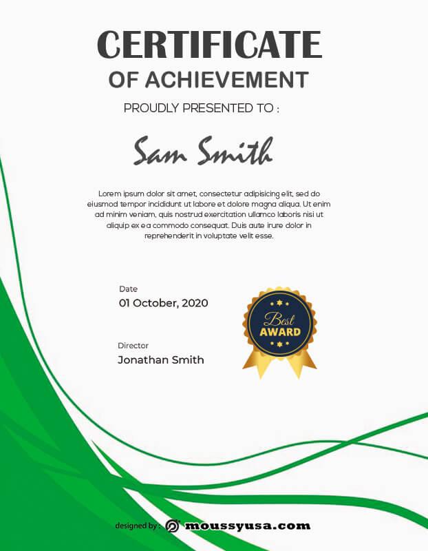award certificate in photoshop