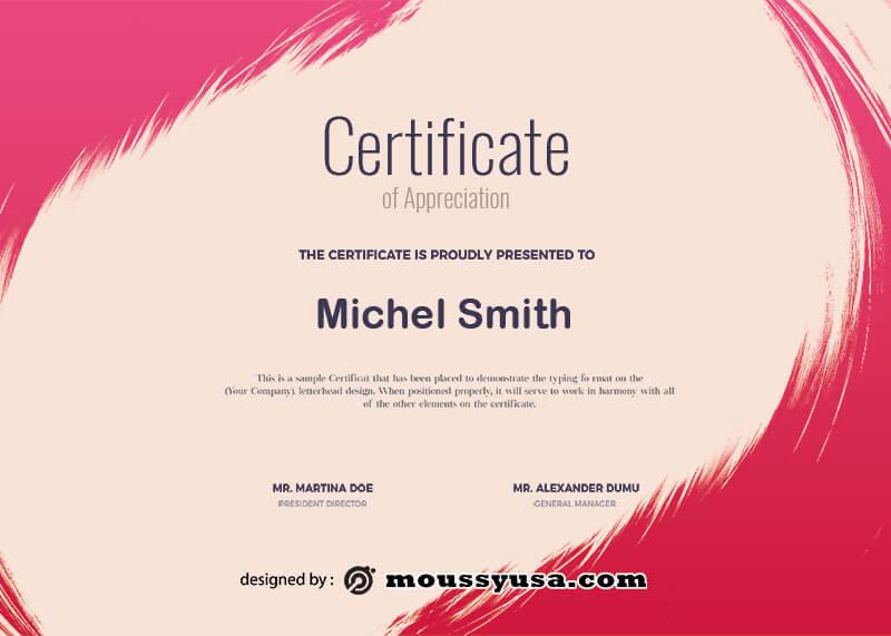 award certificate template free psd