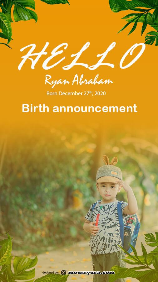 birth announcement in photoshop