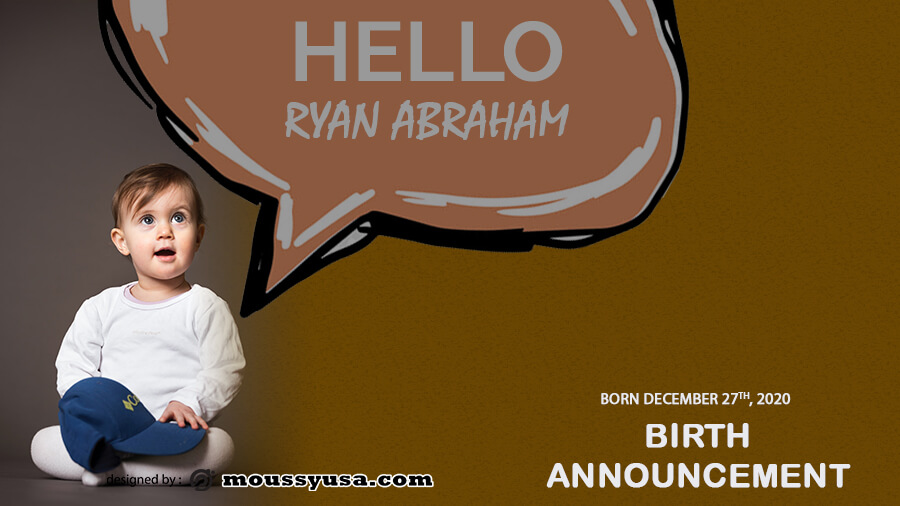 birth announcement in psd design