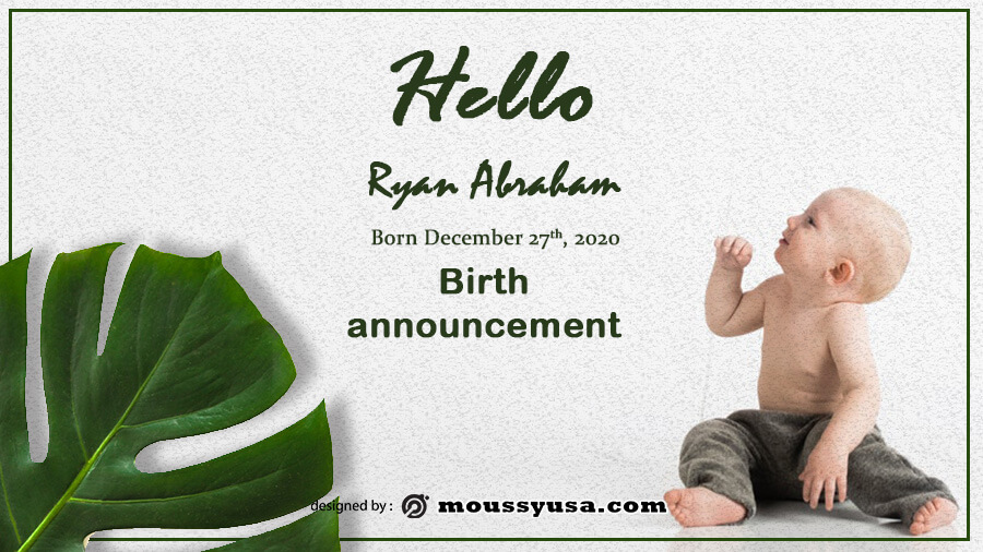 birth announcement template for photoshop