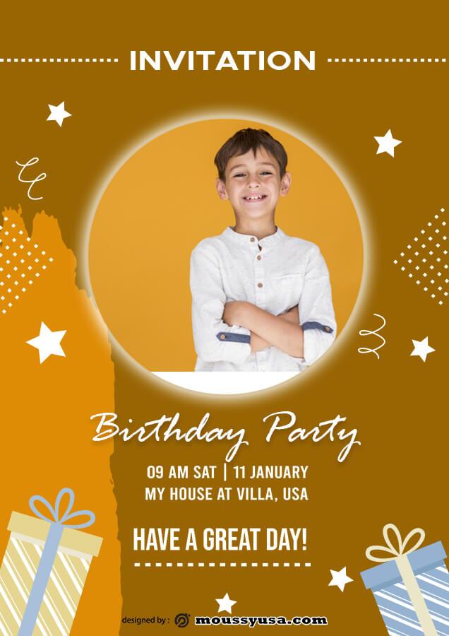 birthday invitation example psd design