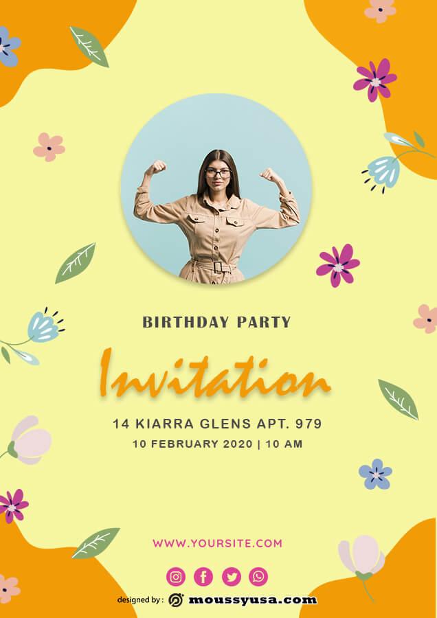 birthday invitation free download psd