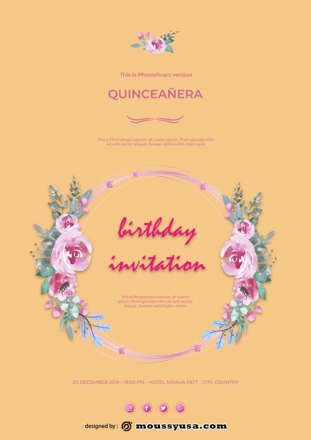 birthday invitation in photoshop free download