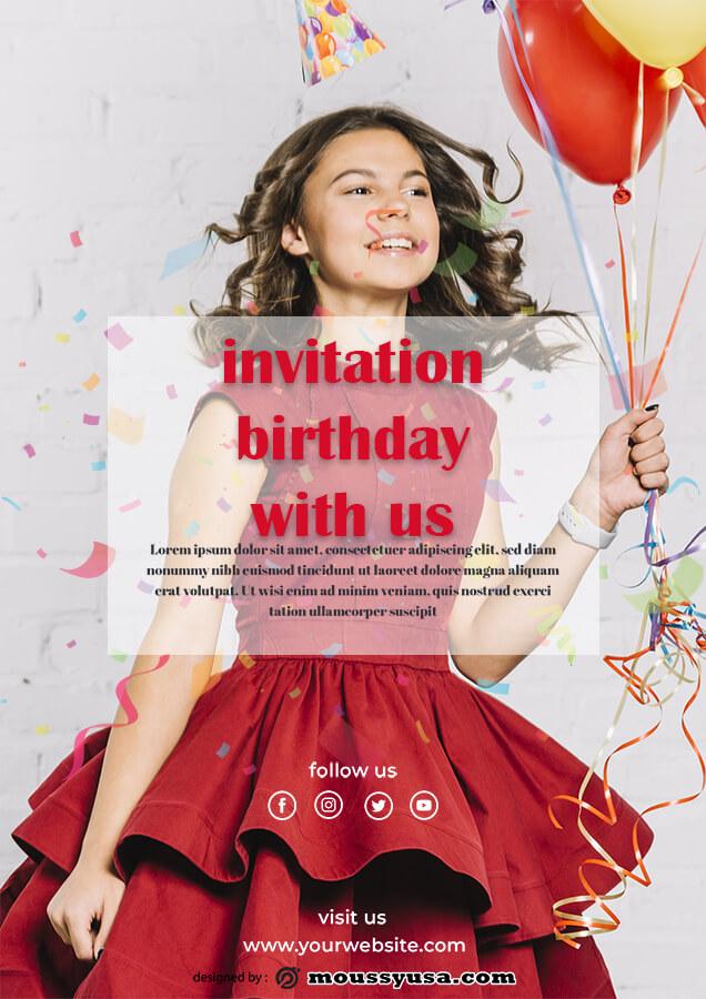birthday invitation in photoshop