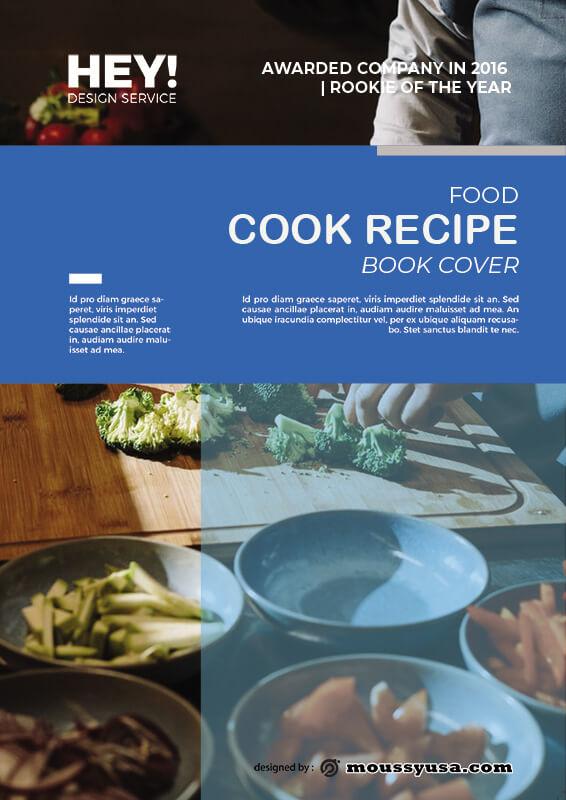 book cover customizable psd design template