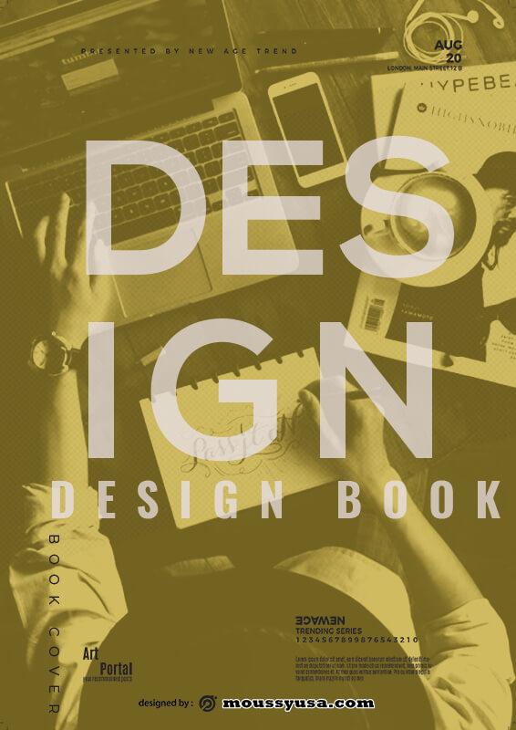 book cover template for photoshop