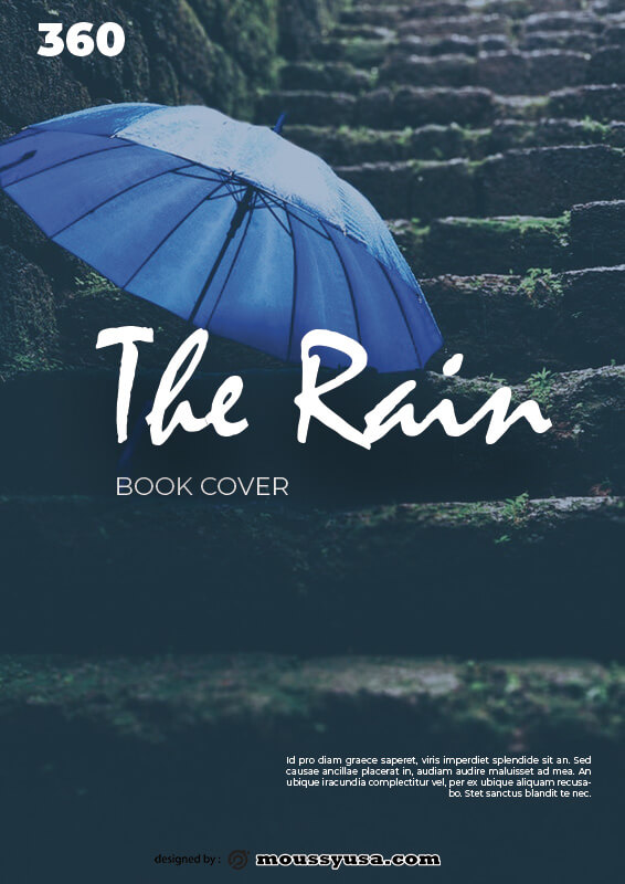 book cover template free psd