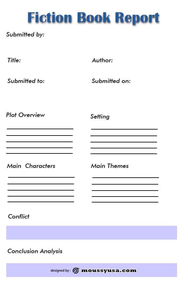book report customizable psd design template