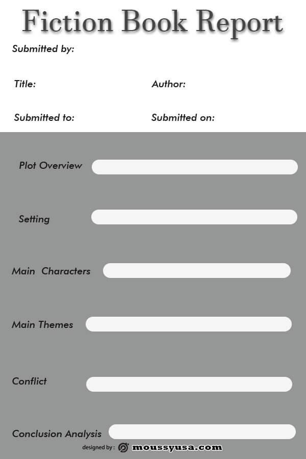 book report example psd design