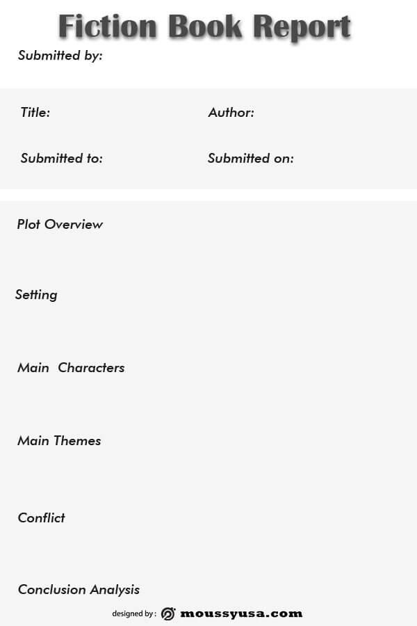 book report in psd design