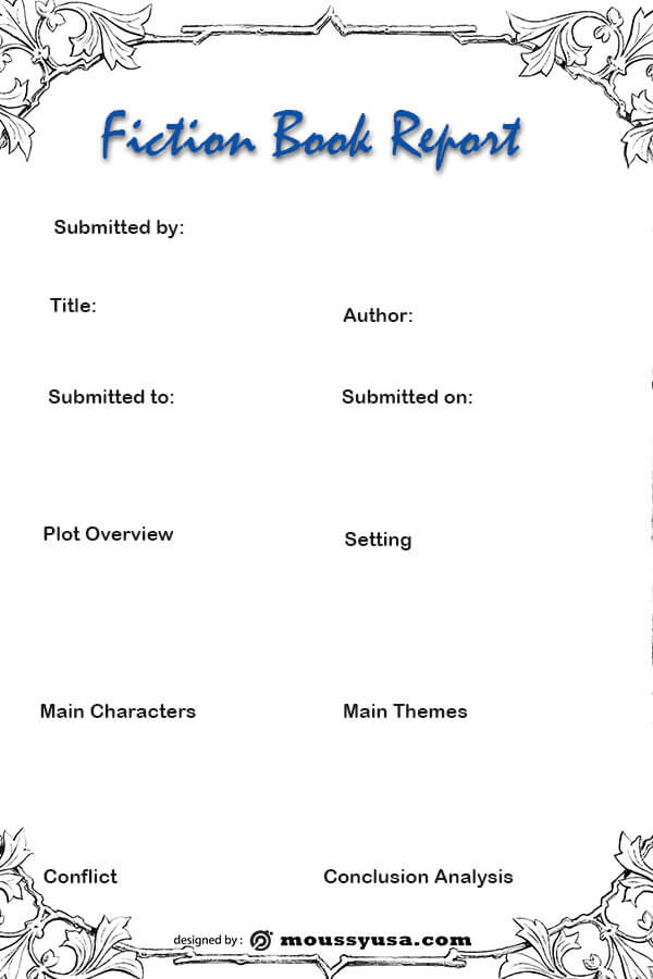 book report template for photoshop