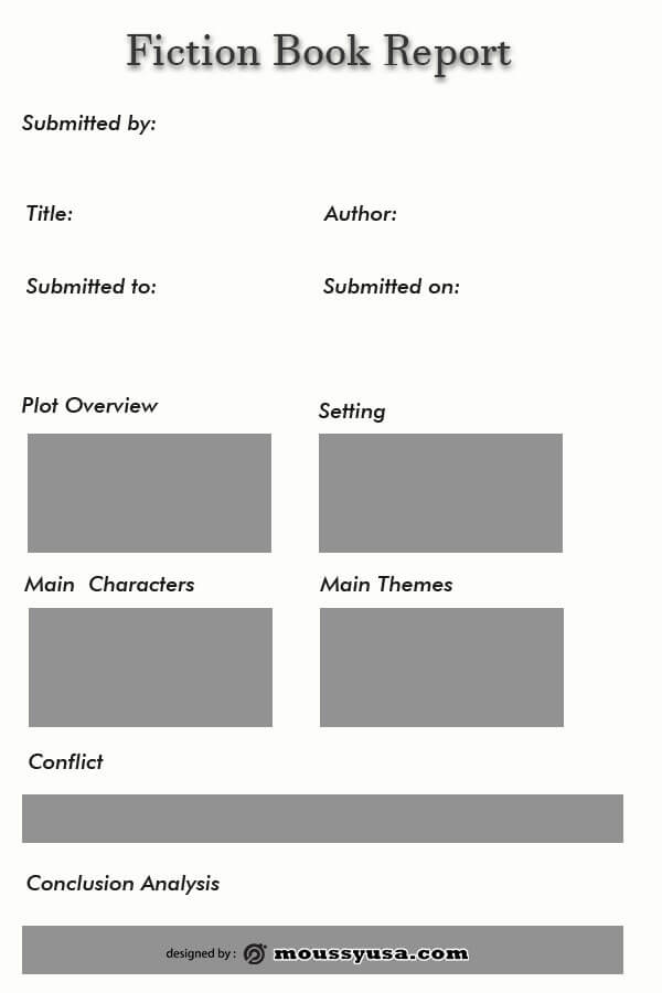book report template free psd