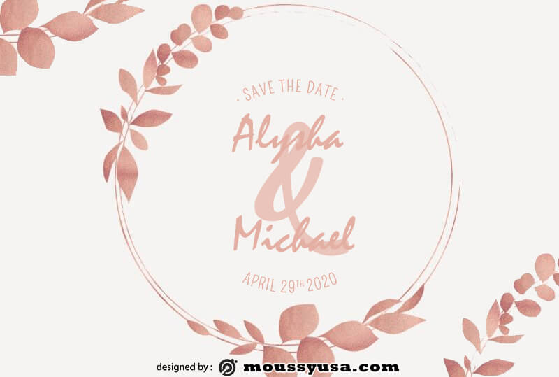 bridal shower invitation free download psd