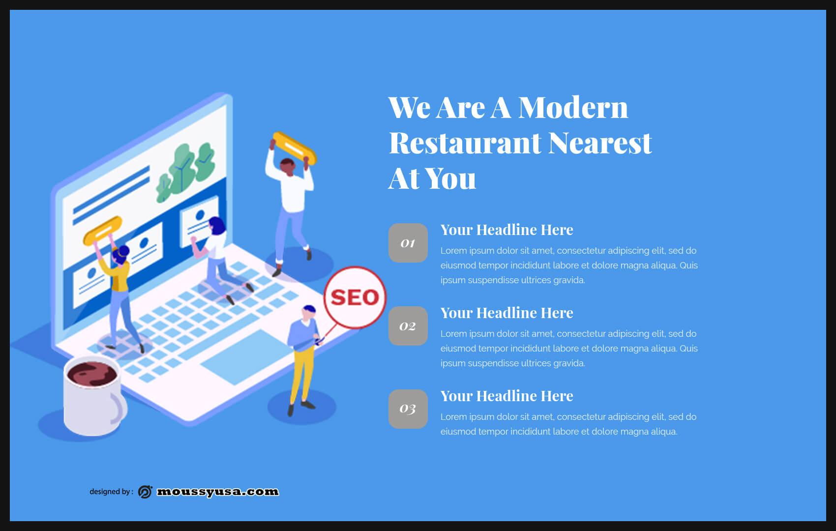 business presentation customizable psd design template