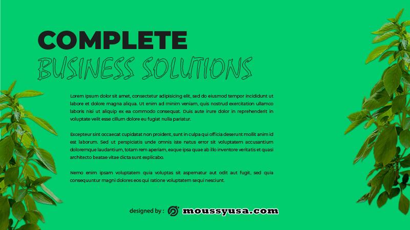 business presentation free psd template