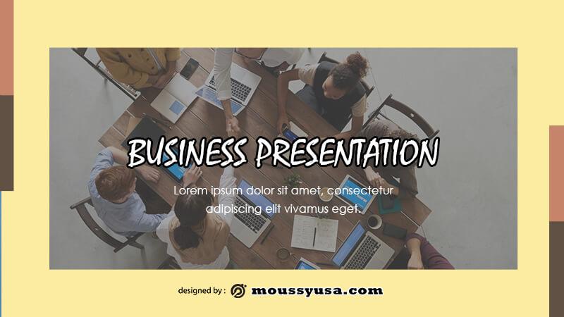 business presentation psd template free