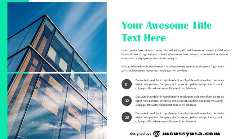 business presentation template free psd