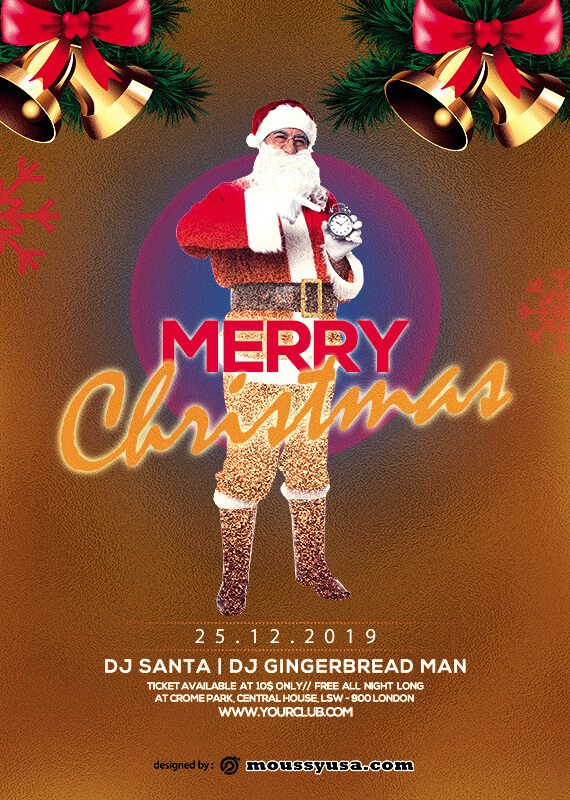 christmas party invitation templates for photoshop