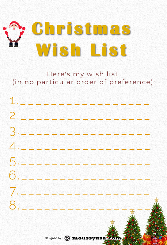 christmas wish list free download psd