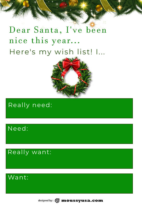 christmas wish list in photoshop