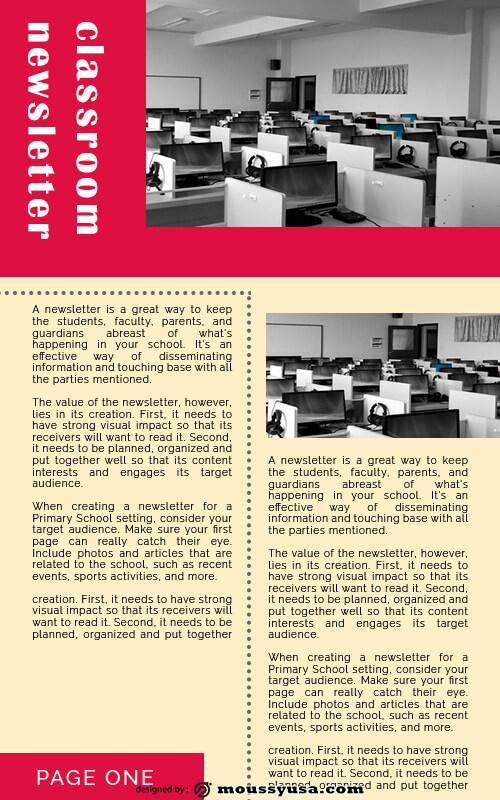 classroom newsletter psd template free