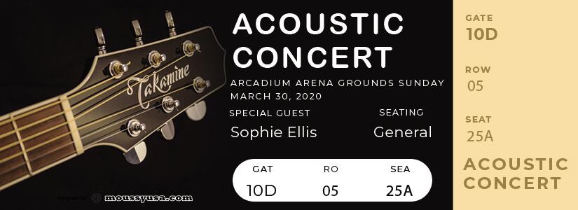 concert ticket customizable psd design templates