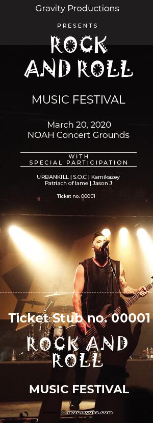 concert ticket in photoshop