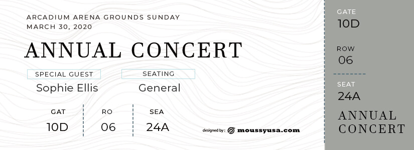 concert ticket templates psd