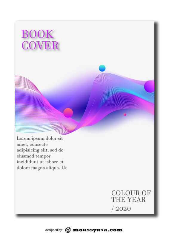 cover page psd template free