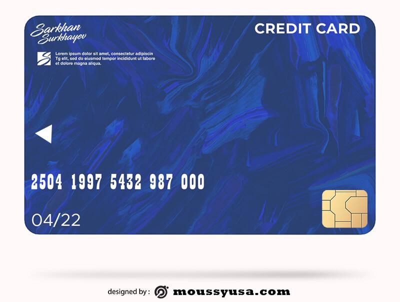 credit card customizable psd design template