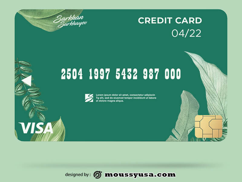 credit card in photoshop free download