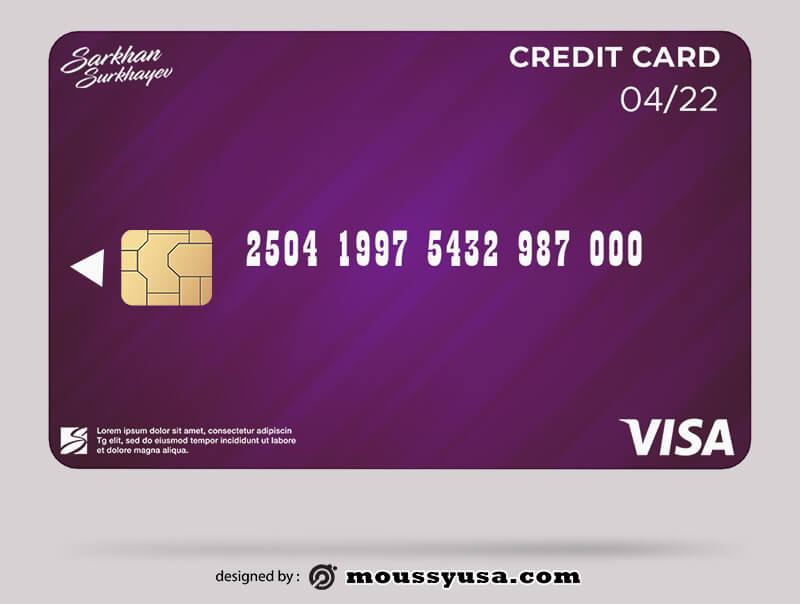 credit card in photoshop