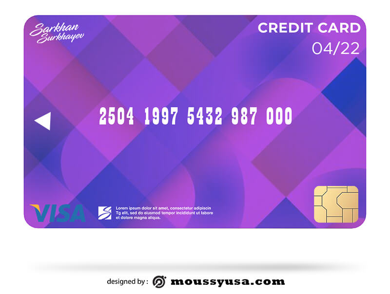 credit card in psd design