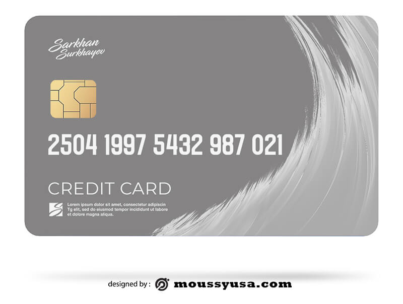 credit card psd template free