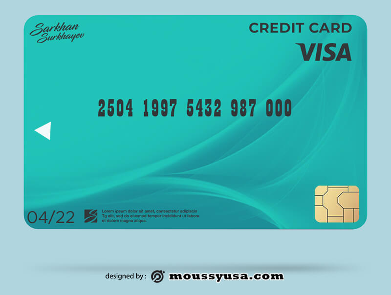 credit card template for photoshop