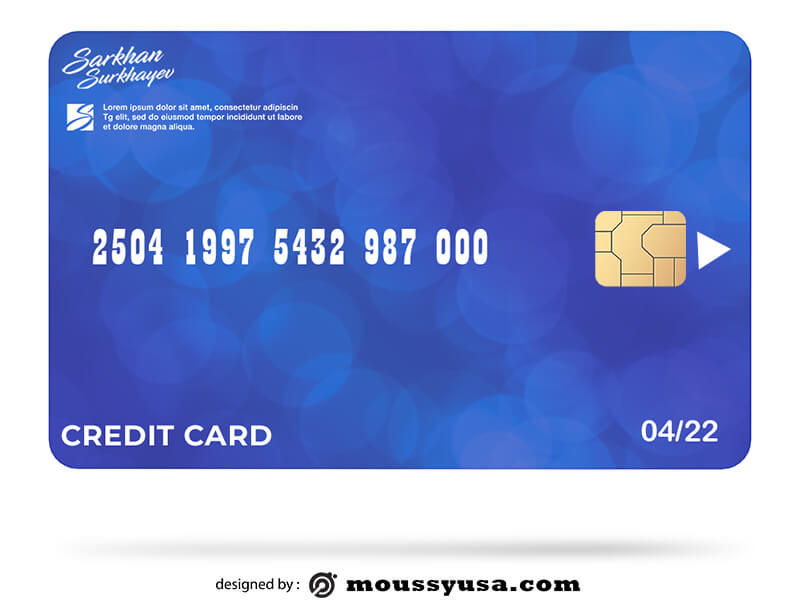 credit card template free psd