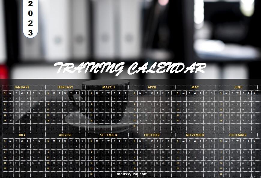 custom calender template free word