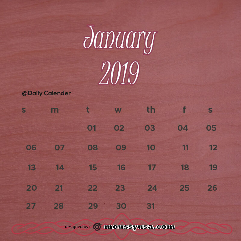 daily calender free download psd