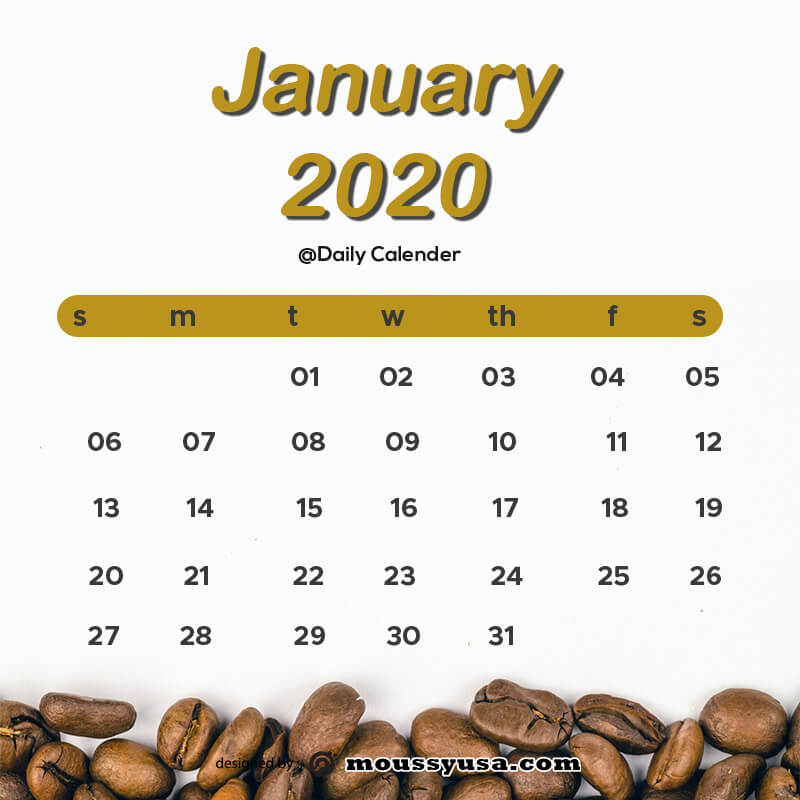 daily calender in photoshop
