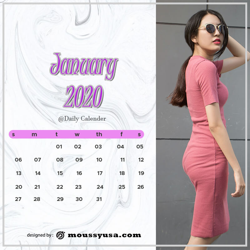 daily calender in psd design