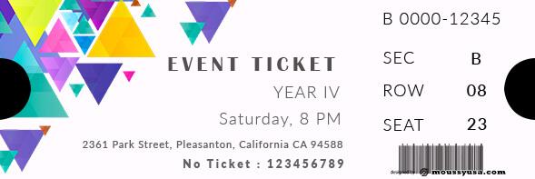 event ticket customizable psd design template