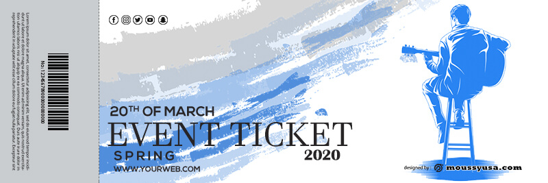 event ticket free download psd