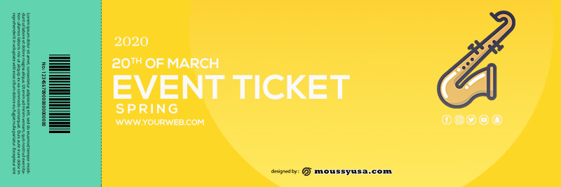 event ticket in photoshop free download