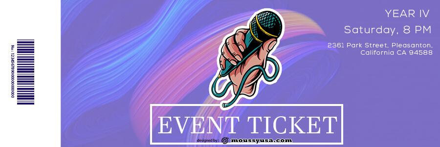 event ticket in photoshop