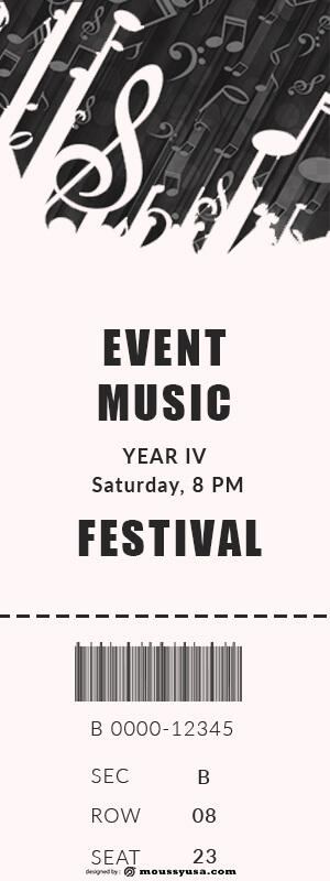event ticket in psd design