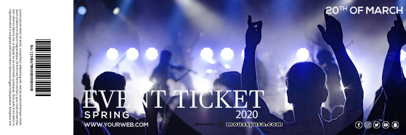 event ticket psd template free