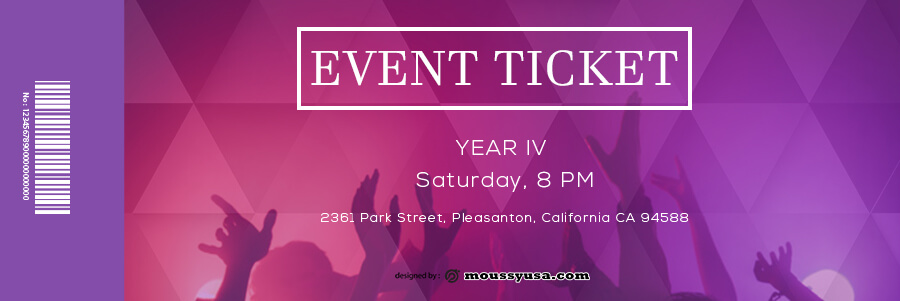 event ticket template free psd