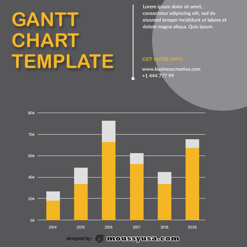 gantt chart customizable psd design template