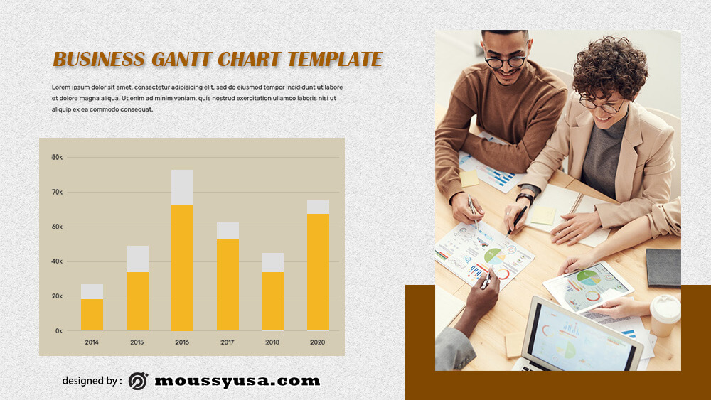 gantt chart example psd design